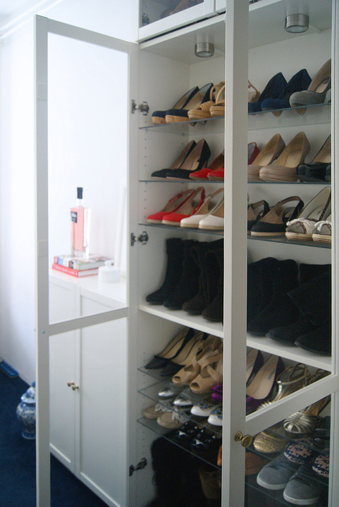 My Ikea Billy Shoe Closet And Lots Of Shoes